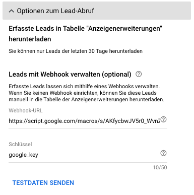 Lead-Extension: Optionen zum Lead-Abruf